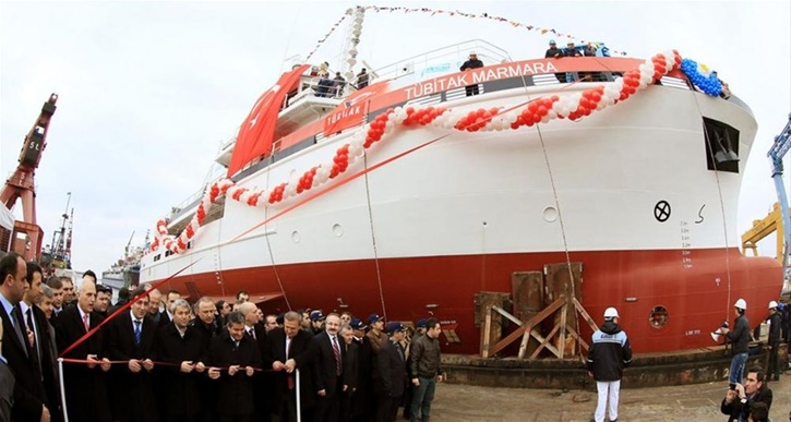 Hurriyet Daily News: Turkey's first locally built research ship at sea